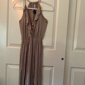 Tan soft spandex maxi dress